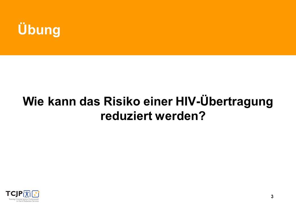 3 Übung Wie kann das Risiko einer HIV-Übertragung reduziert werden