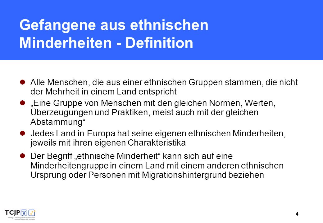 5 Gefangene aus ethnischen Minderheiten I.
