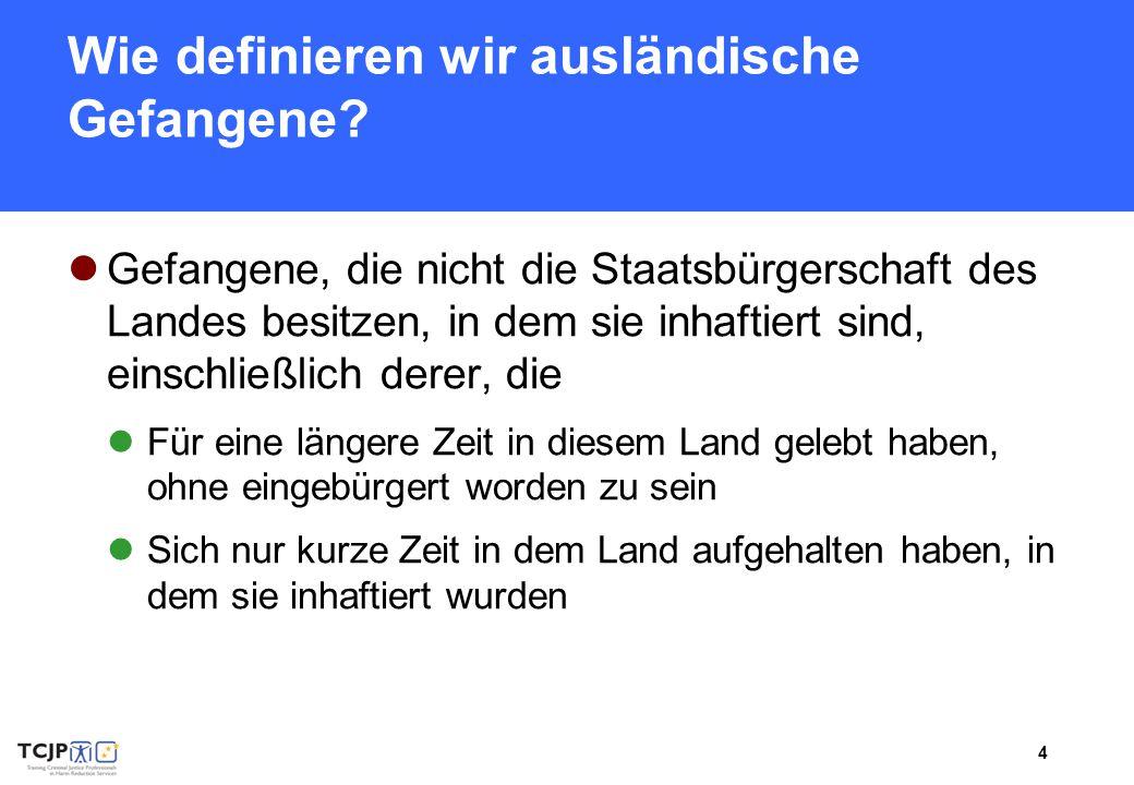 5 Ausländische Gefangene – Zahlen und Fakten I.
