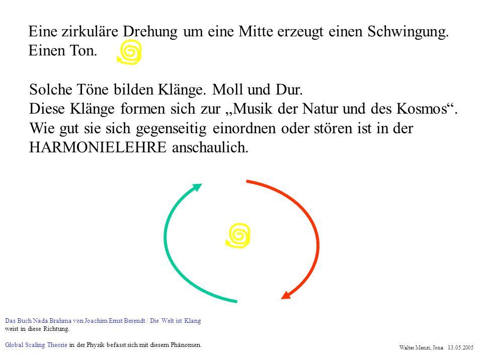 Eine zirkuläre Drehung um eine Mitte erzeugt einen Schwingung.