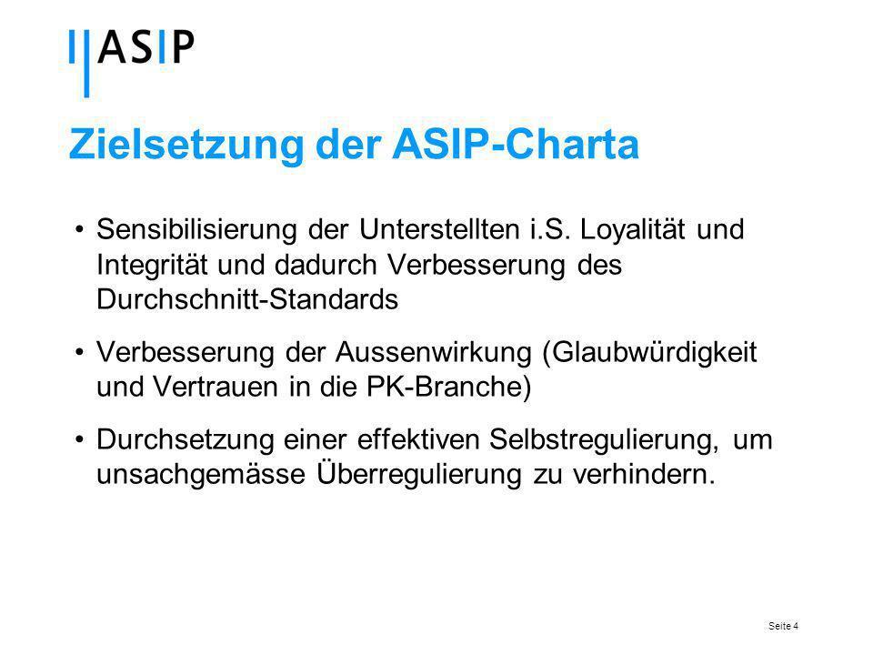 Seite 4 Zielsetzung der ASIP-Charta Sensibilisierung der Unterstellten i.S.