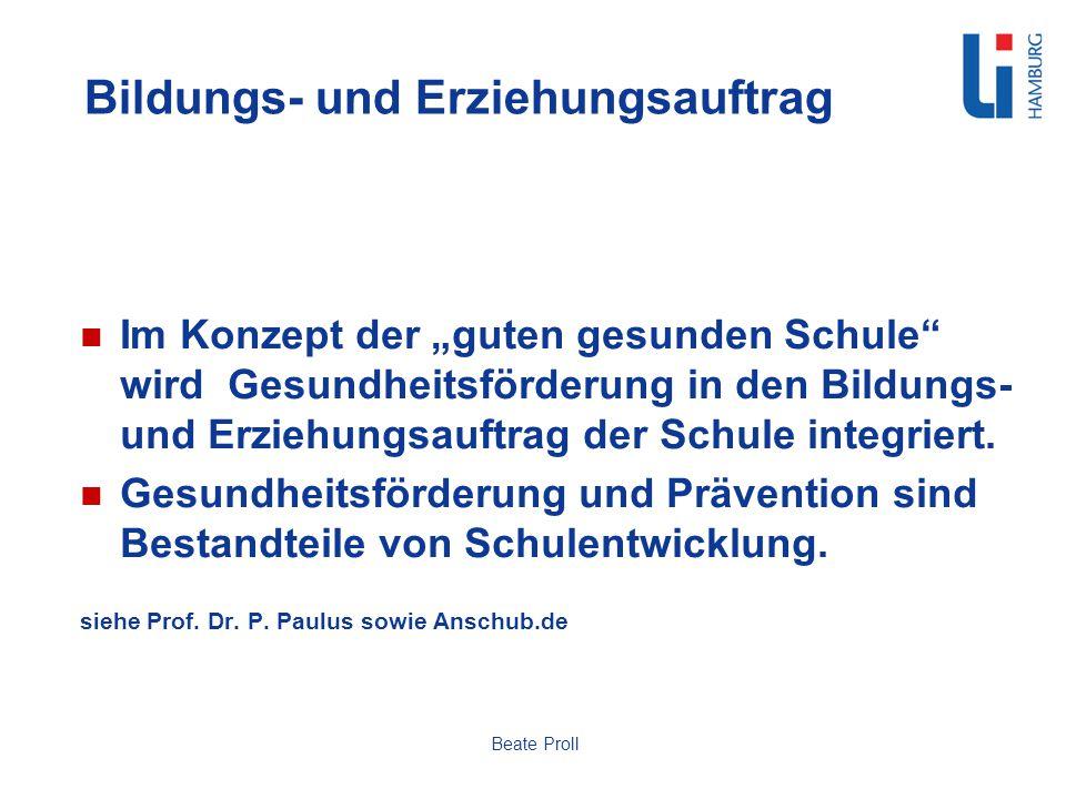 Schulische Rahmenbedingungen Grundrechte / Menschenrechte / Kinderrechte Schulgesetz Bildungspläne / Lehrpläne / curriculare Vorgaben Empfehlungen / Leitfäden Beate Proll