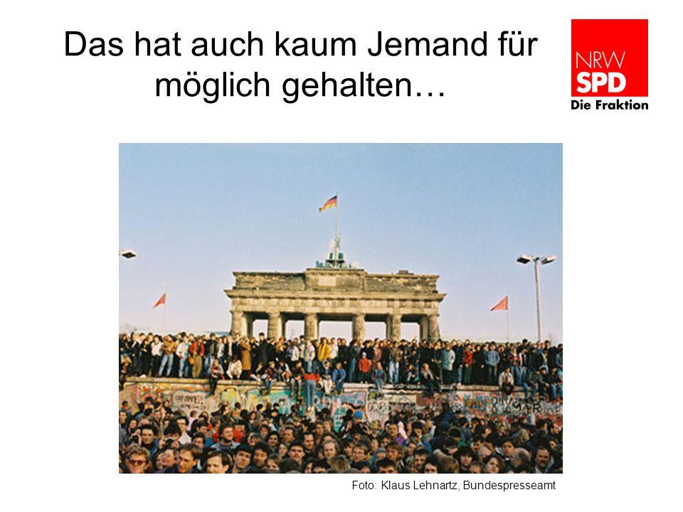 Das hat auch kaum Jemand für möglich gehalten… Foto: Klaus Lehnartz, Bundespresseamt