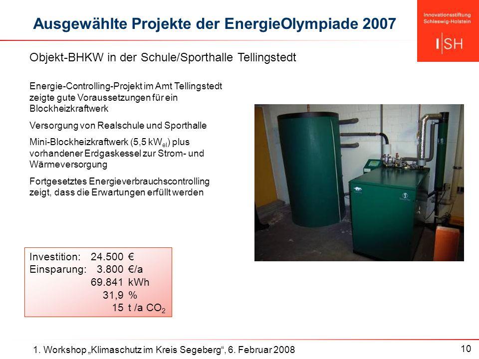 10 1. Workshop Klimaschutz im Kreis Segeberg, 6.