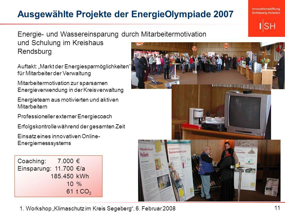 11 1. Workshop Klimaschutz im Kreis Segeberg, 6.