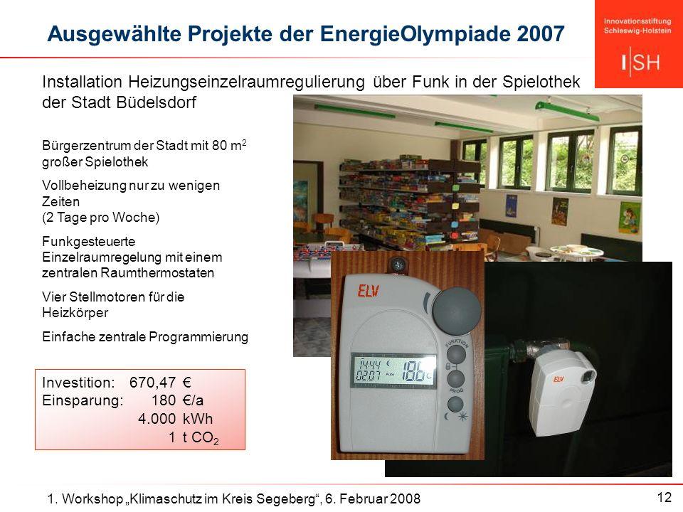 12 1. Workshop Klimaschutz im Kreis Segeberg, 6.