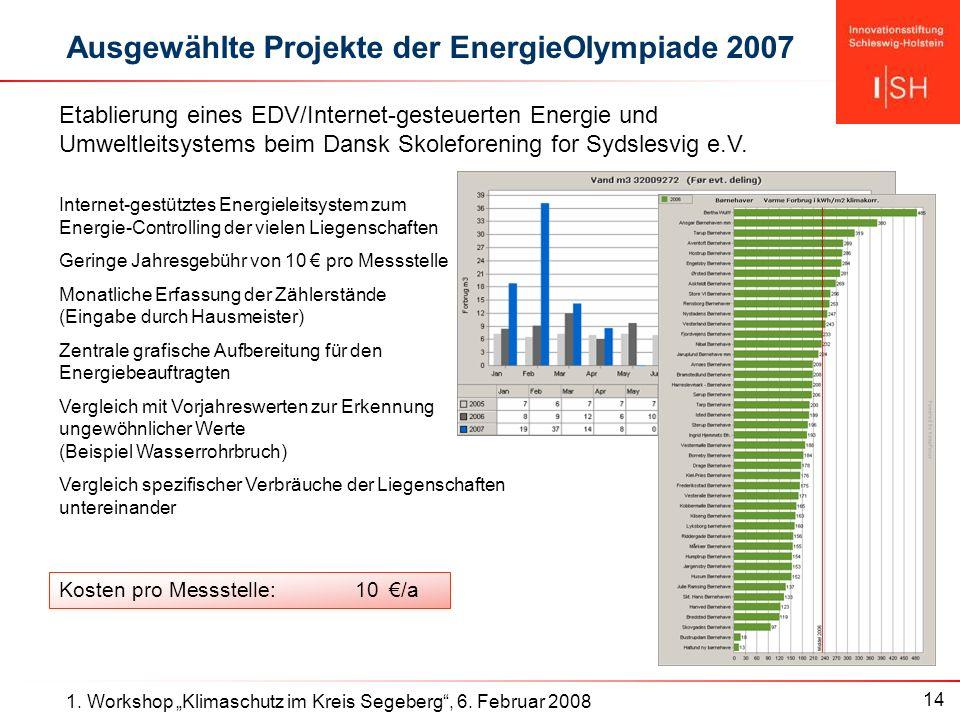 14 1. Workshop Klimaschutz im Kreis Segeberg, 6.