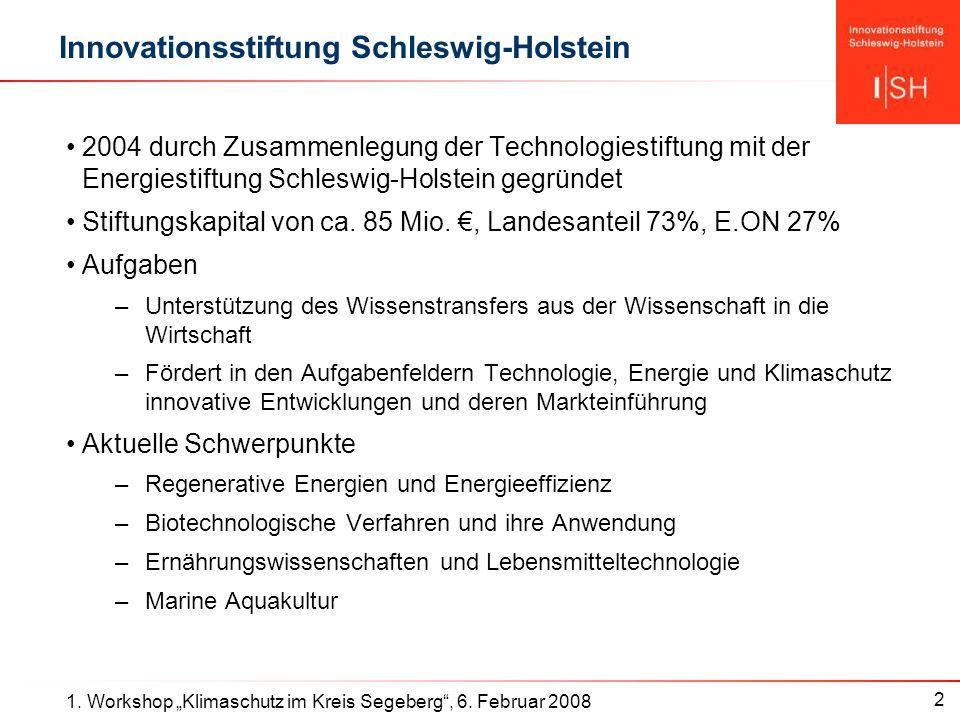 2 1. Workshop Klimaschutz im Kreis Segeberg, 6.