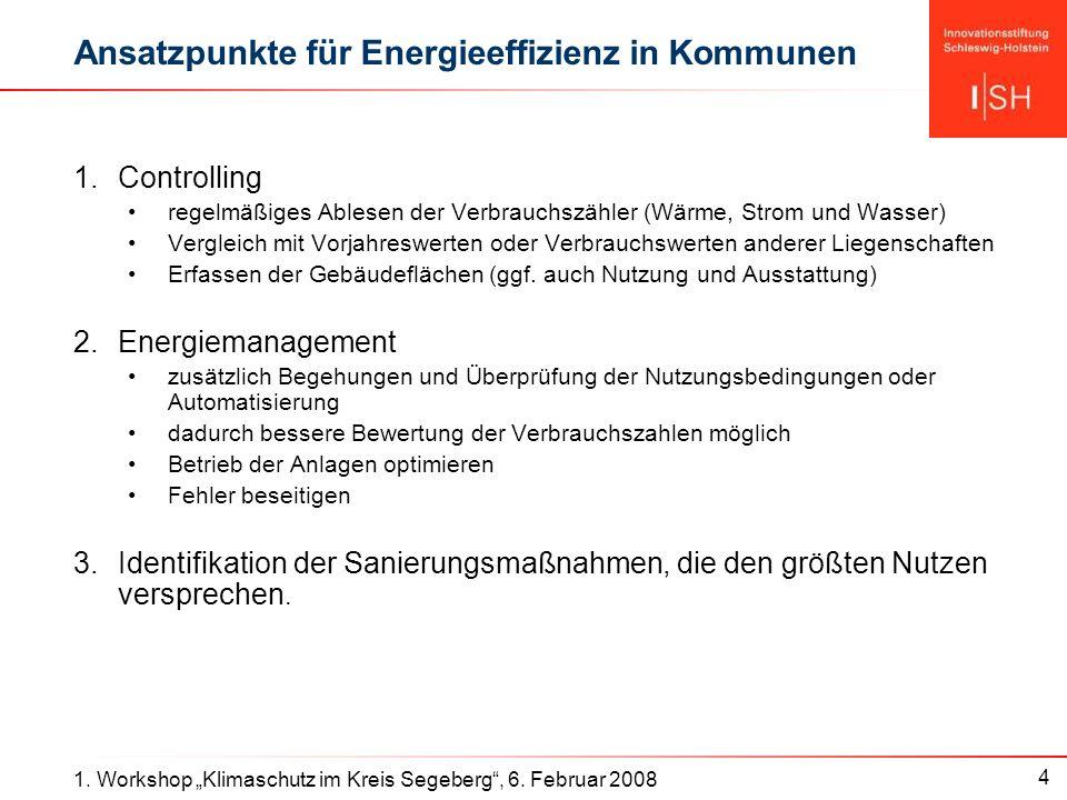 4 1. Workshop Klimaschutz im Kreis Segeberg, 6.