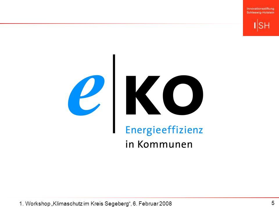 6 Die e-ko–Initiative: Ziele e-ko ist die Dachmarke für Energie-Effizienz-Förderung der ISH Ziele: Sensibilisierung für Thema Energieeffizienz durch Öffentlichkeitsarbeit und Anreize Energie-Effizienzansätze in den Kommunen und im Land unterstützen: Best practise, innovative Lösungen Die Energie-Olympiade als erste und wichtigste Aktion von e-ko