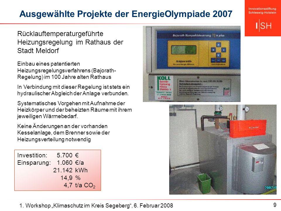 9 1. Workshop Klimaschutz im Kreis Segeberg, 6.