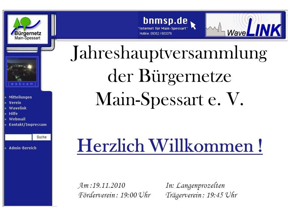 Tagesordnung JHV 2010 Förderverein 1.Bericht der 1.