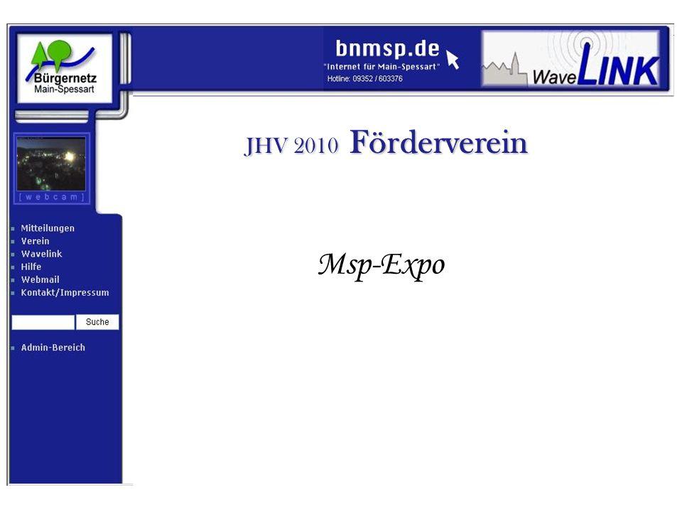 JHV 2010 Förderverein Msp-Expo