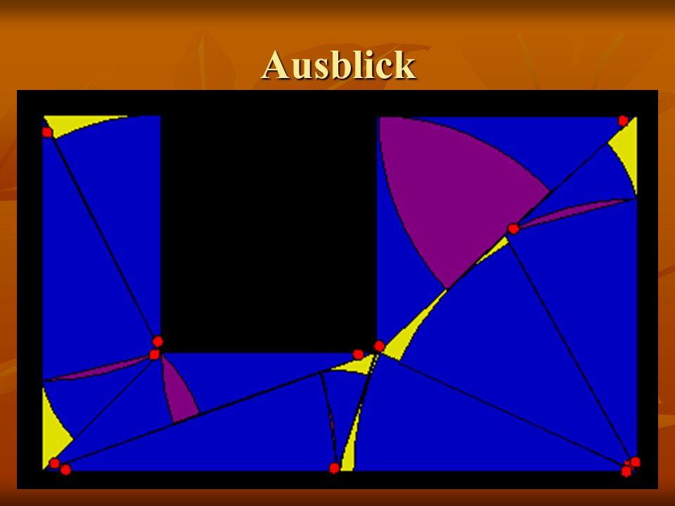 Übersicht Abfrage der Koordinaten Zeichnen + ausfüllen des Polygons Dreiecke zeichnen Dreiecke teilen Längen, Winkel aller Dreiecke errechnen Kreissek