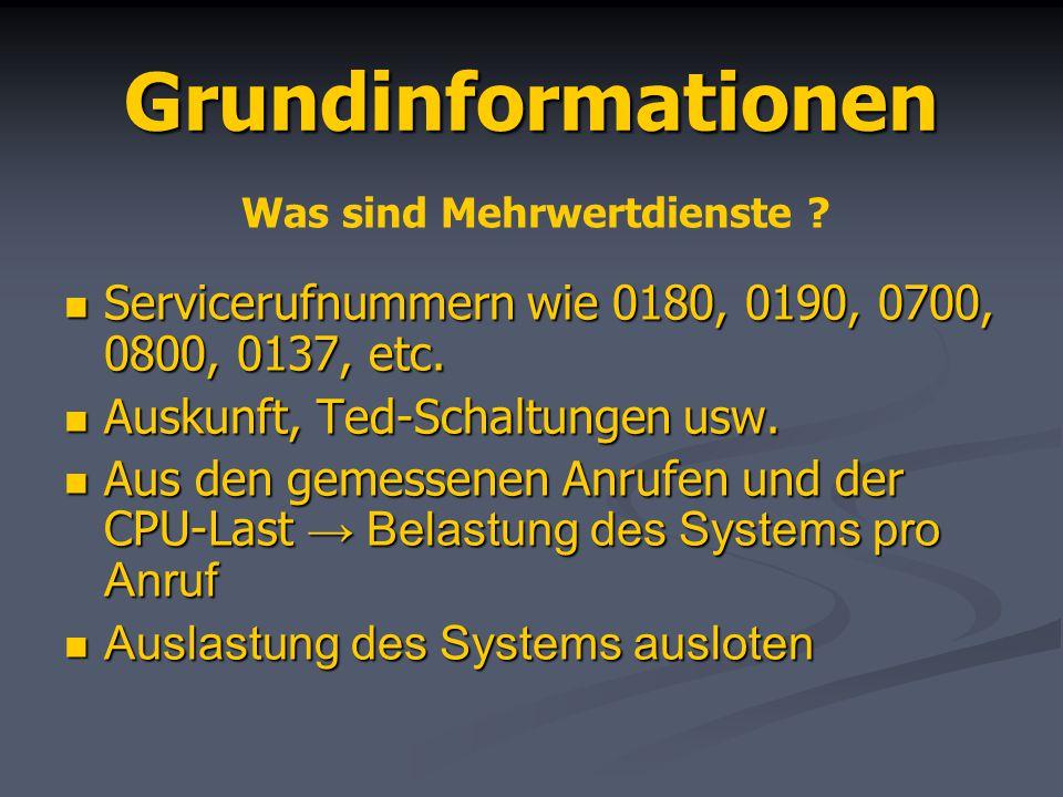 Grundinformationen Servicerufnummern wie 0180, 0190, 0700, 0800, 0137, etc. Servicerufnummern wie 0180, 0190, 0700, 0800, 0137, etc. Auskunft, Ted-Sch