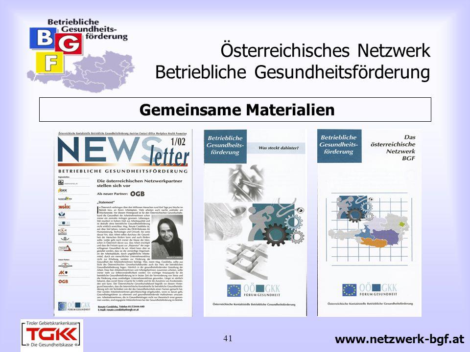 42 Österreichisches Netzwerk Betriebliche Gesundheitsförderung 1 x jährlich wird ein Infotag veranstaltet 4 x jährlich erscheint ein Newsletter mindestens 2 x jährlich gibt es ein zweitägiges Arbeitstreffen Laufende Aktivitäten www.netzwerk-bgf.at