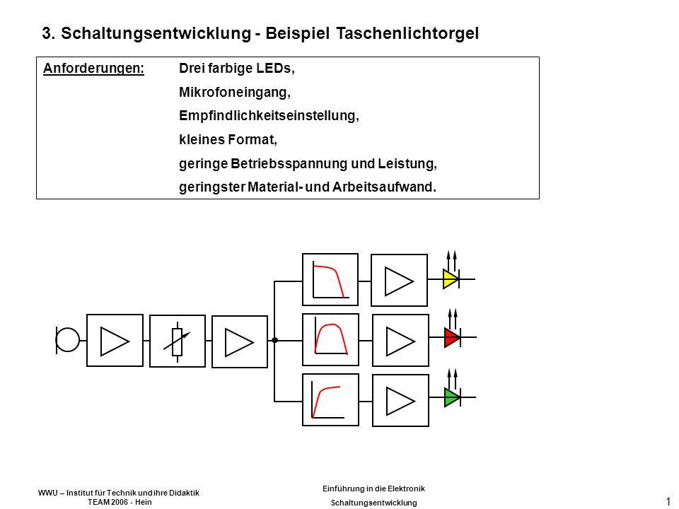 WWU – Institut für Technik und ihre Didaktik TEAM 2006 - Hein Einführung in die Elektronik Schaltungsentwicklung 1 3.