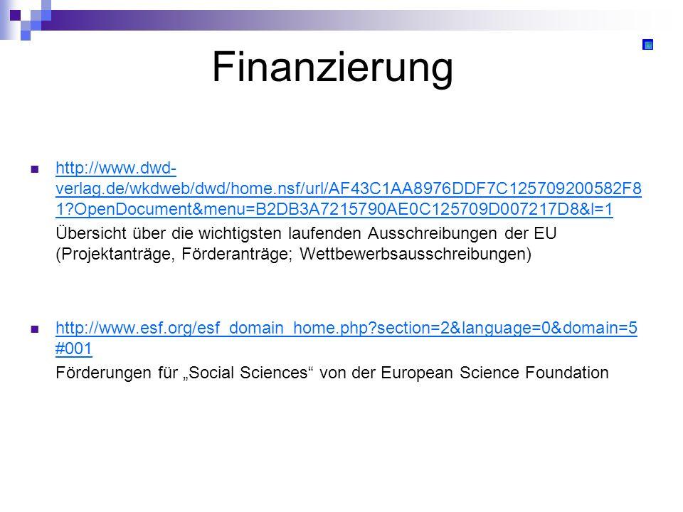 Finanzierung http://www.dwd- verlag.de/wkdweb/dwd/home.nsf/url/AF43C1AA8976DDF7C125709200582F8 1?OpenDocument&menu=B2DB3A7215790AE0C125709D007217D8&l=