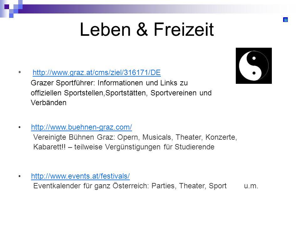 Leben & Freizeit http://www.graz.at/cms/ziel/316171/DE Grazer Sportführer: Informationen und Links zu offiziellen Sportstellen,Sportstätten, Sportvere