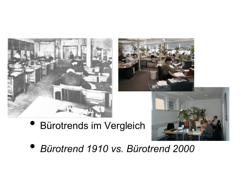Bürotrends im Vergleich Bürotrend 1910 vs. Bürotrend 2000