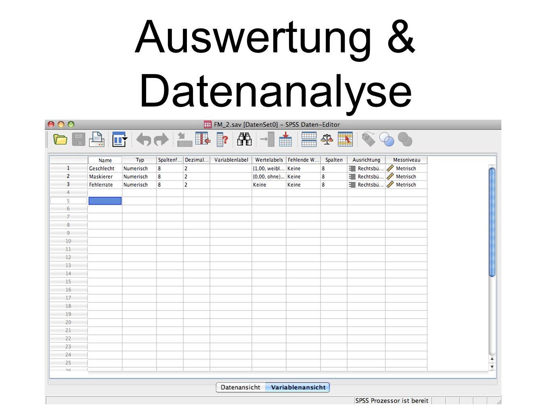 Auswertung & Datenanalyse
