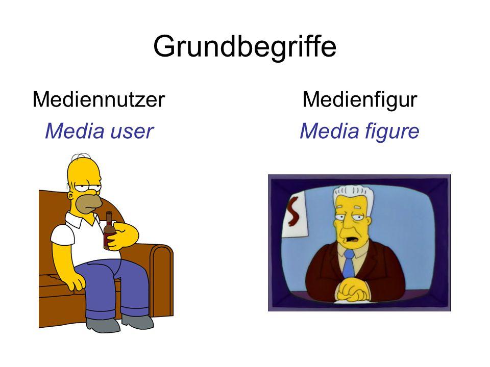 Grundbegriffe Mediennutzer Media user Medienfigur Media figure