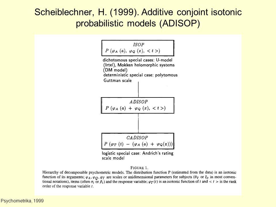 Scheiblechner, H. (1999).