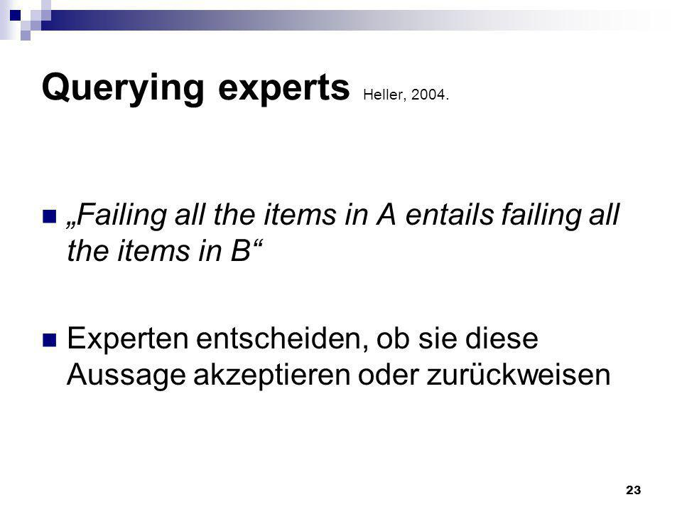 23 Querying experts Heller, 2004.
