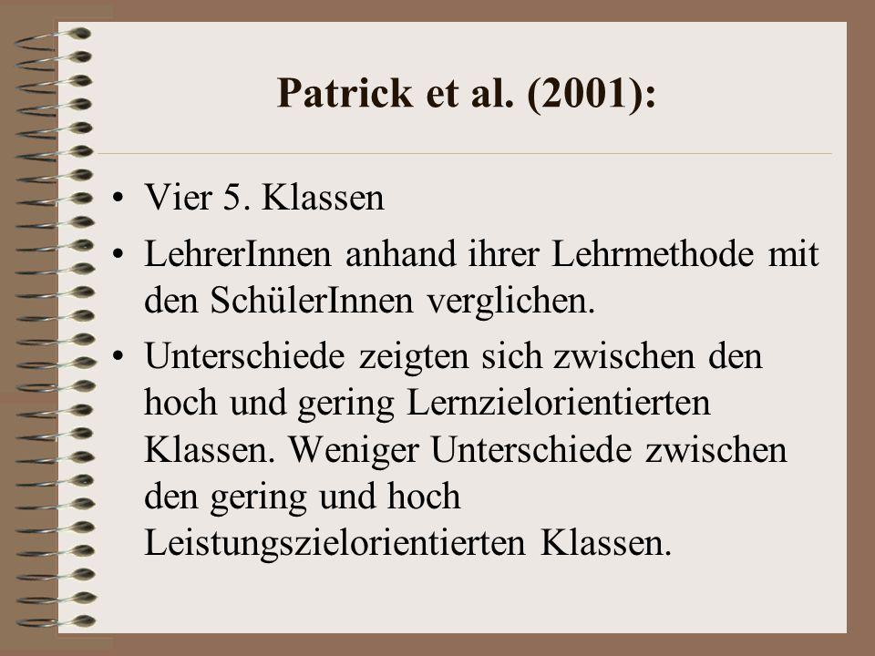 Patrick et al.(2001): Vier 5.