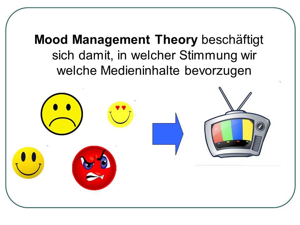 Mood Management Theory beschäftigt sich damit, in welcher Stimmung wir welche Medieninhalte bevorzugen