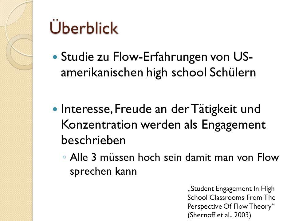 Fragestellung Gibt es kulturelle Unterschiede im Flow- Modell.