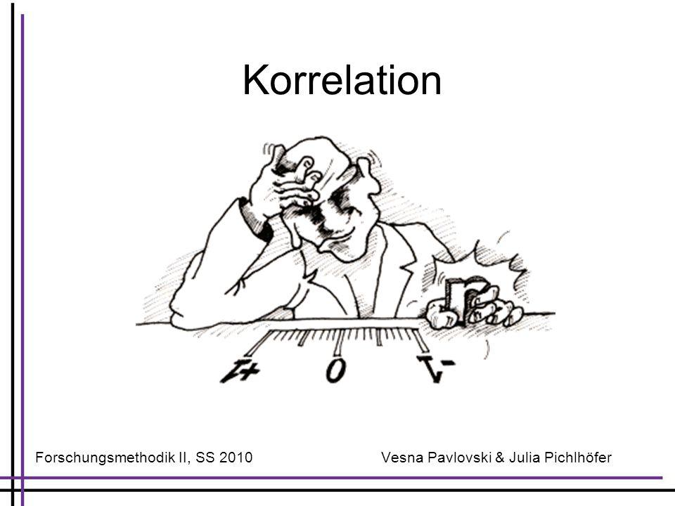 Korrelation Forschungsmethodik II, SS 2010 Vesna Pavlovski & Julia Pichlhöfer