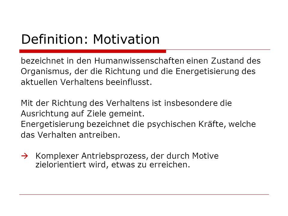 Theoretische Erklärungsansätze Psychoanalytisch (Freud) Lerntheoretisch (Skinner) Humanistisch (Maslow) Erwartungs-Wert-Ansätze (Atkinson) Attributionstheoretisch Sozialpsychologisch (Adams) Motivationspsychologisch (Heckhausen)