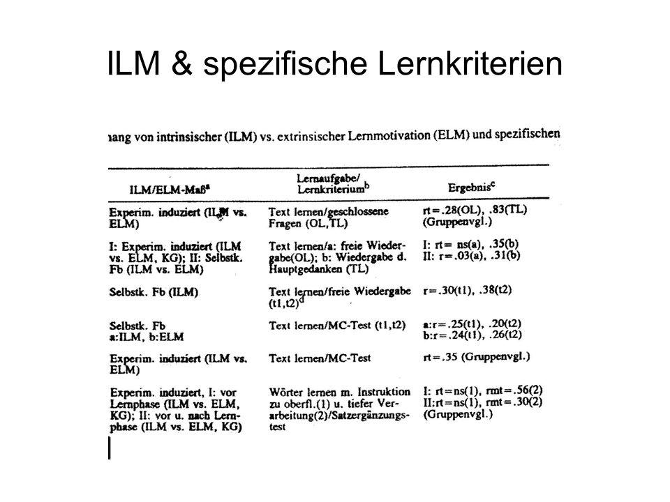 ILM & spezifische Lernkriterien