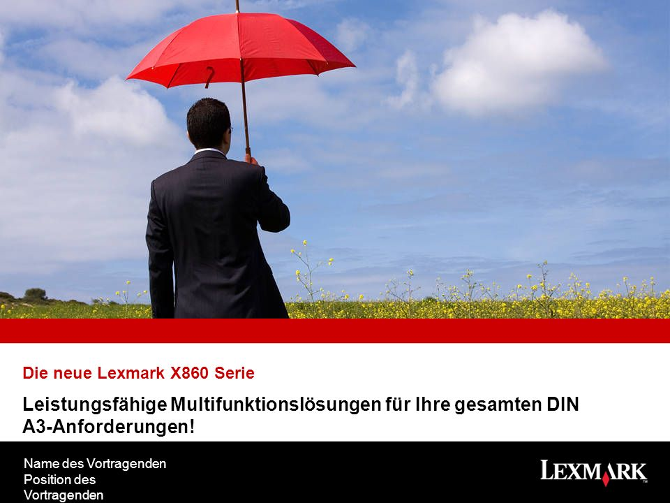 Lexmark X860 Multifunktionsserie Robuste, leistungsfähige DIN A3-Monochrom-Multifunktionslösungen für eine außergewöhnliche Office-Produktivität.