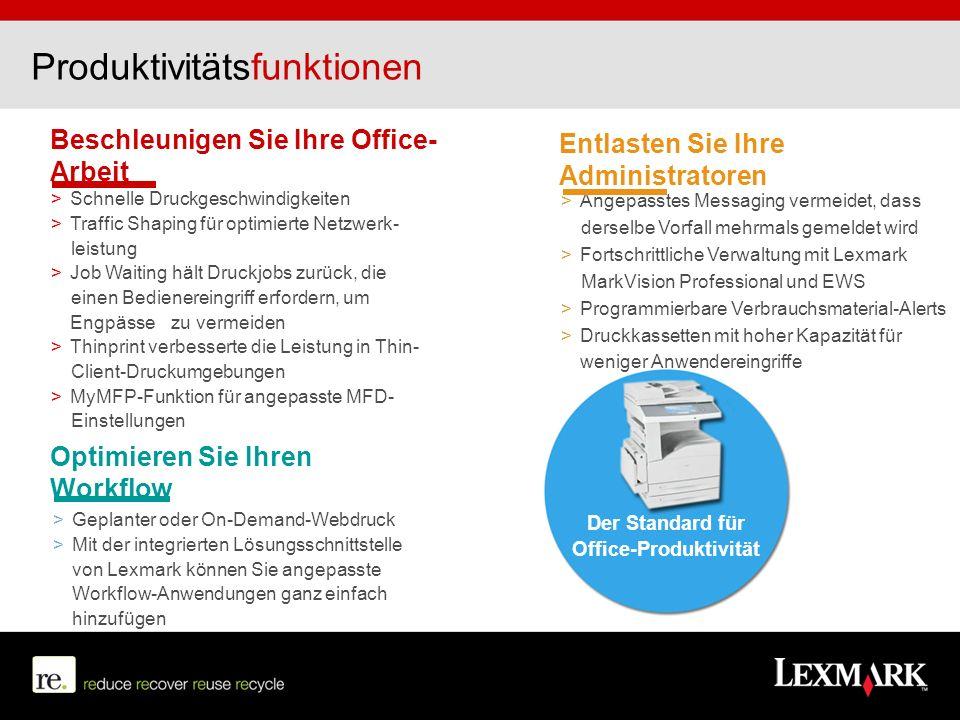 Produktivitätsfunktionen Beschleunigen Sie Ihre Office- Arbeit > Schnelle Druckgeschwindigkeiten > Traffic Shaping für optimierte Netzwerk- leistung >
