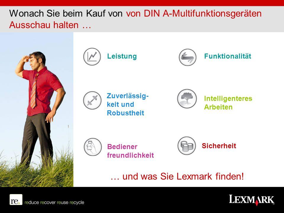 Produkte Unsere Standards sind hoch. Zum Glück bietet uns Lexmark eine große Auswahl!