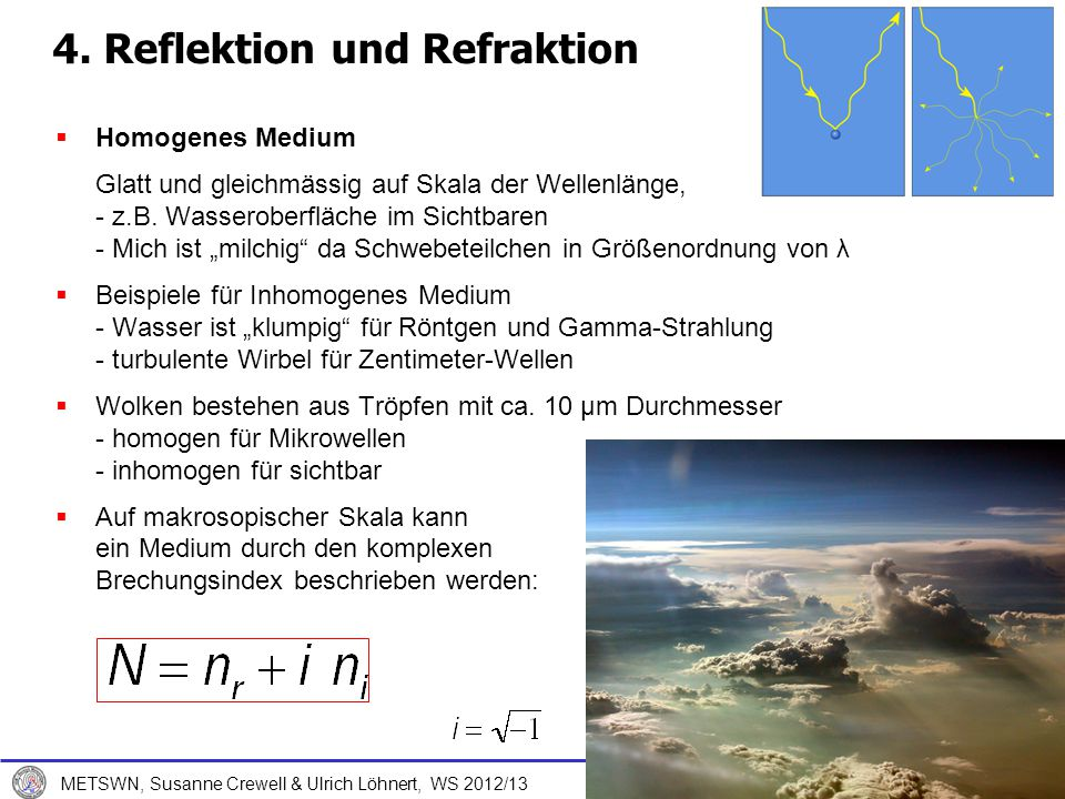 14. Dezember 2012 METSWN, Susanne Crewell & Ulrich Löhnert, WS 2012/13 Strahlungsbilanz 25
