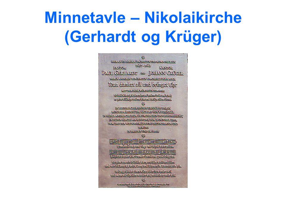 Minnetavle – Nikolaikirche (Gerhardt og Krüger)