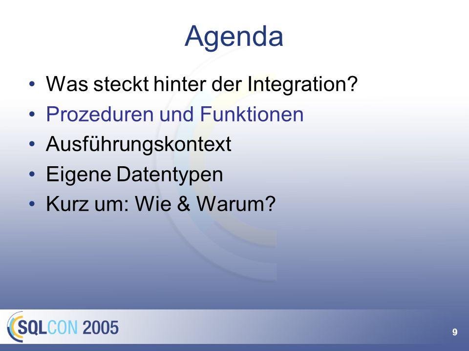 9 Agenda Was steckt hinter der Integration.