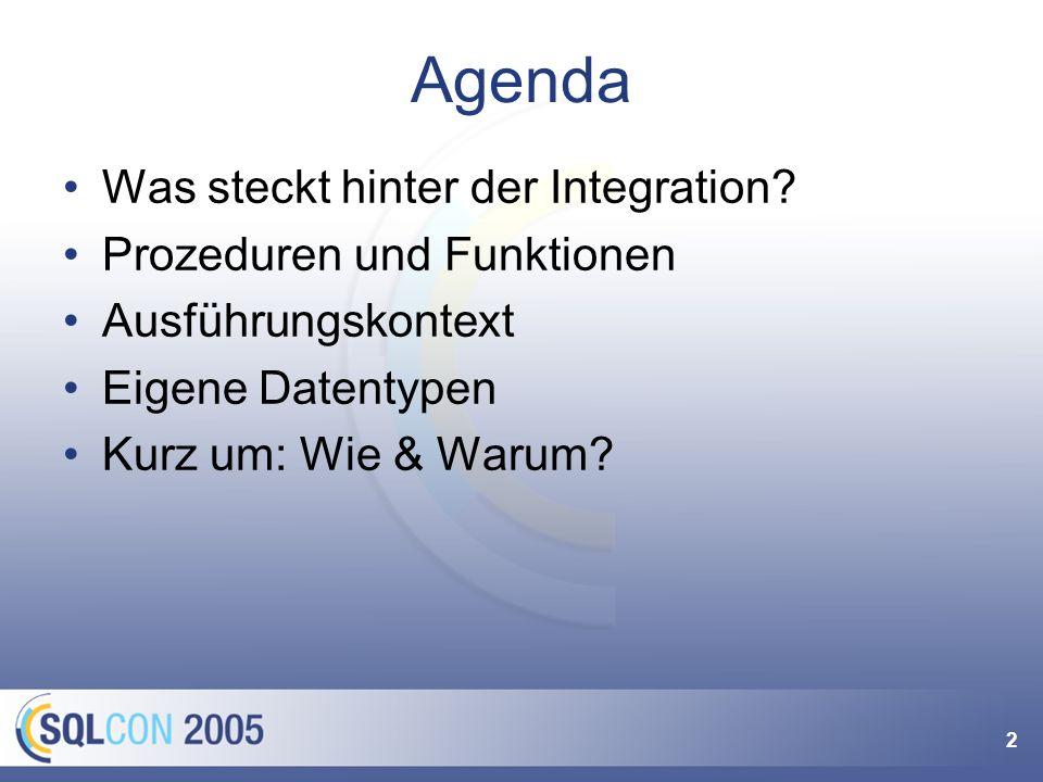 2 Agenda Was steckt hinter der Integration.