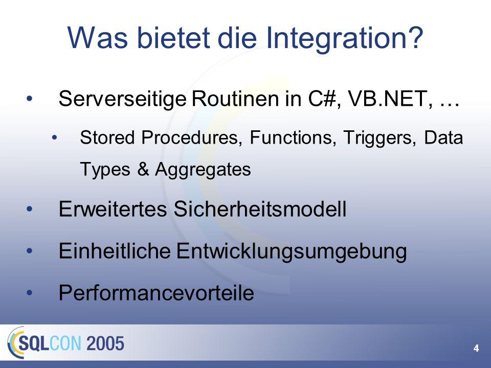 4 Was bietet die Integration.