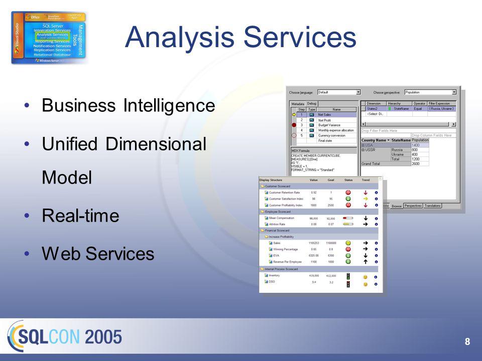 9 Mehr zu Analysis Services Vortrag OLAP für den Massenmarkt.