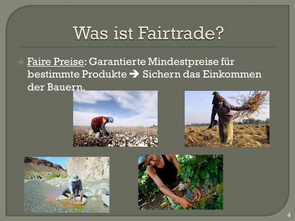 Faire Preise: Garantierte Mindestpreise für bestimmte Produkte Sichern das Einkommen der Bauern. 4