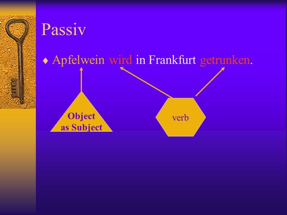 Passiv in Englisch und Deutsch The letter is written by me.