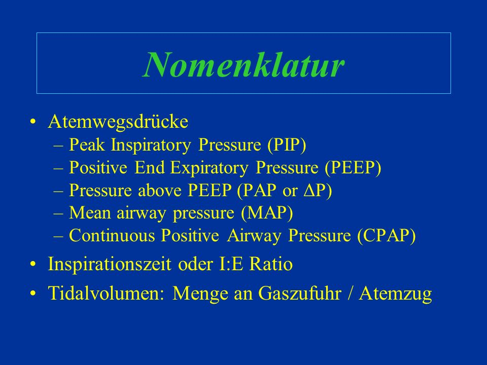Mechanische Ventilation Ventilatoren verabreichen Gas mit einem bestimmten Druck. Die Menge des Gases kann durch Zeit, Druck, oder Volumen begrenzt we