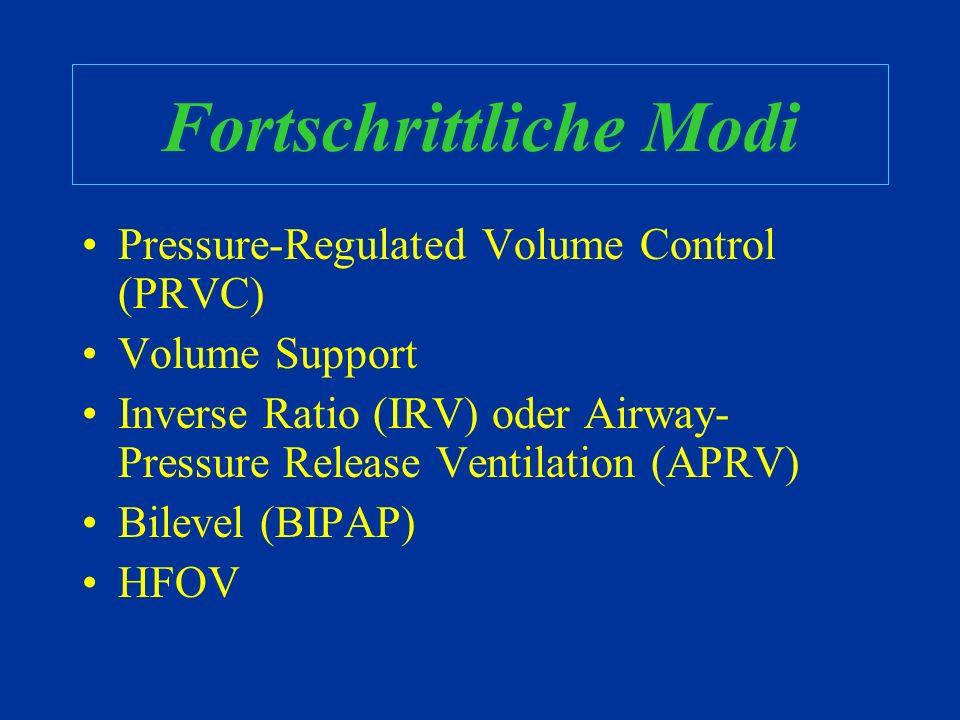Wegleitung gefällig?? Druckunterstützung Trigger: Der Ventilator braucht eine bestimmte Atemarbeit vom Patienten Kann Atemarbeit verringern, indem für