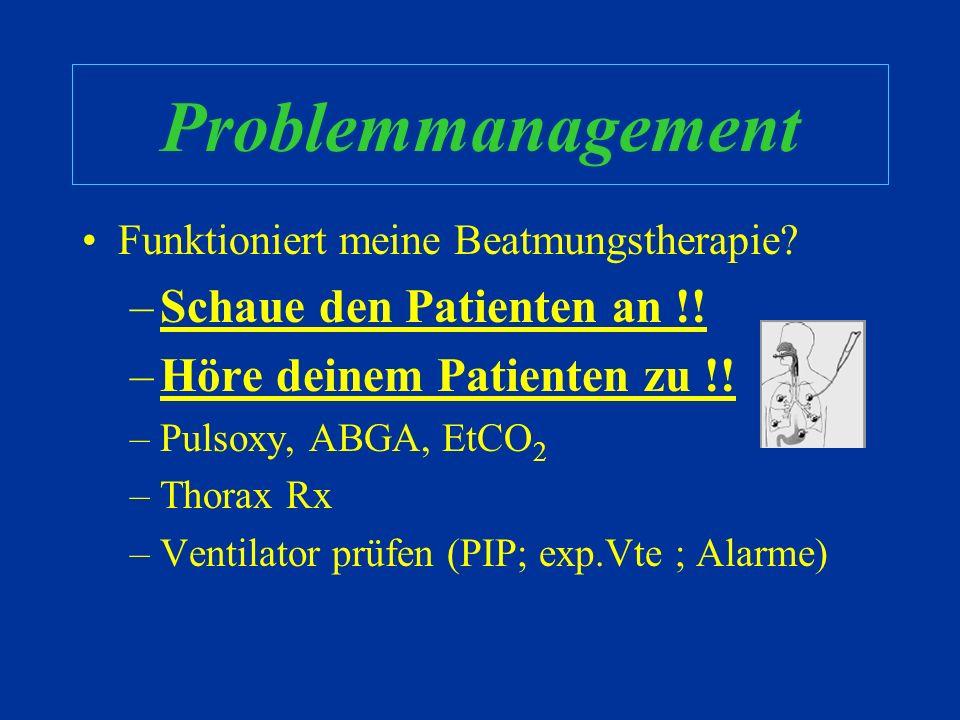 Aber... Ist es wirklich so simpel ? –Den Peep zu erhöhen, kann den Totraum vergrössern, das HMV verringern, V/Q Mismatch begünstigenkann –Die Atemfreq