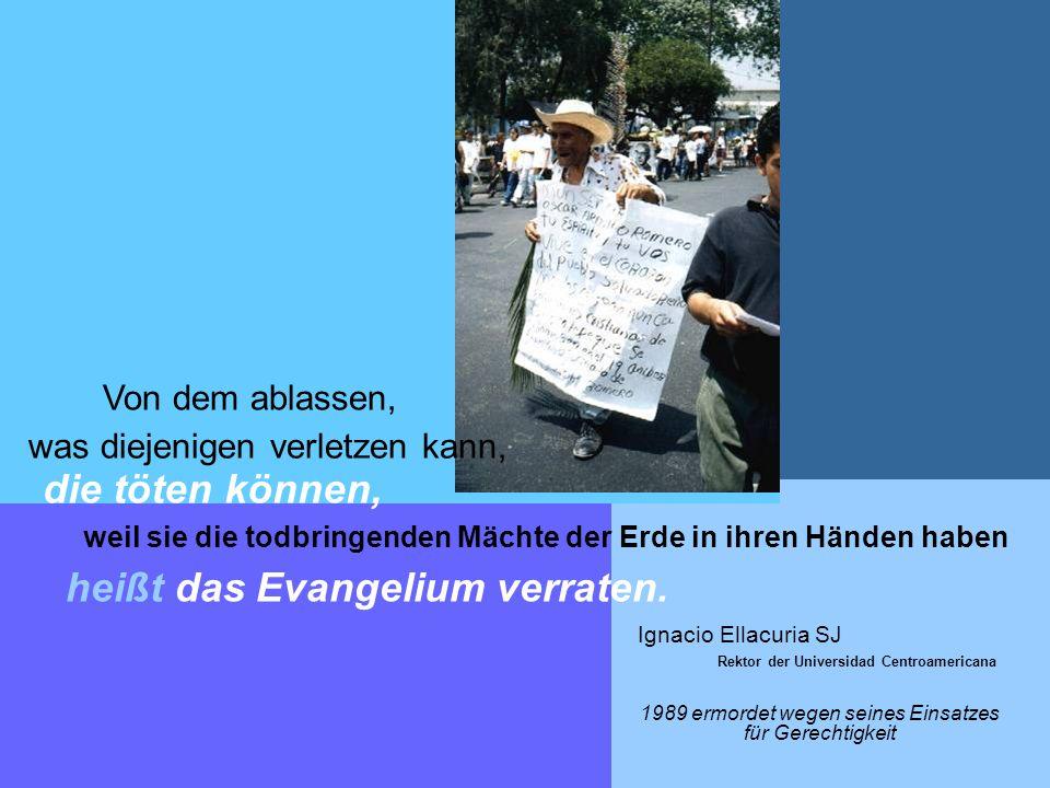 Von dem ablassen, was diejenigen verletzen kann, die töten können, weil sie die todbringenden Mächte der Erde in ihren Händen haben heißt das Evangelium verraten.