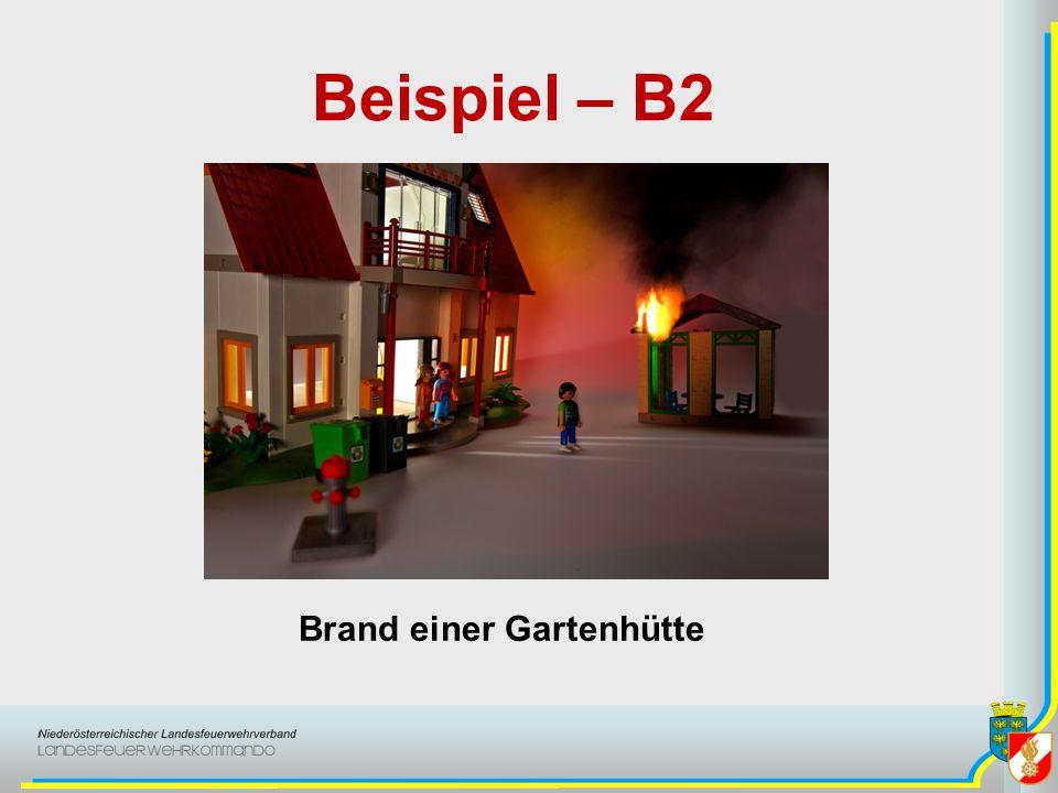 Beispiel – B2 Brand einer Gartenhütte